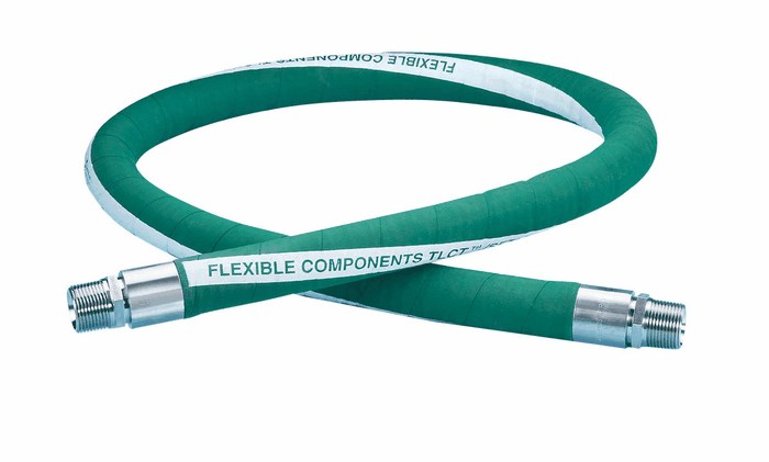 1-ft Length 1//2 hex Male x 1//2 hex Male ChemFluor 8TS0303S6-12 Smooth PTFE-Lined Hose Assembly