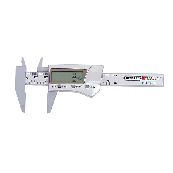0 to 8 with Fractions General Tools 1478 Digital Stainless Steel Caliper or Milimeters UOM