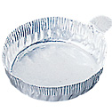 DO-01017-52 Representative Photo Only.  Aluminum Crimpled-Walled Dishes with Tab, 70mm Dia x 5/8