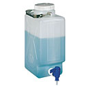 DO-06066-20 Thermo Scientific Nalgene<small><sup>®</sup></small> rectangular high-density polyethylene carboy with spigot, 9 L