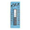 DO-08068-22 Eight-Point temperature indicating labels; temperature points 160-230°F (71-110°C), 25 pk