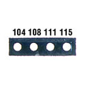 DO-08068-41 Micro Four Point Temperature Indicator Labels, Tempertaure Points, 104-115 °F