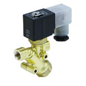 Representative photo only Solenoid Valve 2 Way Normall Open with Built In Y Strainer 1 4 NPT