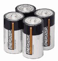 DO-09376-03 Batteries, 1.5 V, D, 4/pack