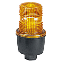 Federal Signal Low Profile Strobe Light Surface mount Amber 120 VAC (Representative photo only)