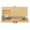 "DO-10508-57 Shockproof Dial Calipers & Depth Attachment Combo with Wooden Case 6"" white face"