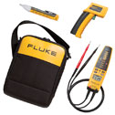 DO-20034-50 Fluke 62/T+Pro/1AC II, Electrical/HVAC Kit, 62 Mini IR Thermometer, T+Pro Voltage & Continuity Tester, 1AC-II Voltage Detector, C115 Soft Case