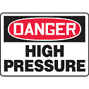 ACCUFORM SIGNS -  - Safety Sign Danger High Pressure 10 x 14 Plastic