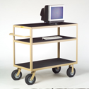 Representative photo only Three Shelf Instrument Cart w Lip
