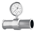 Representative photo only In line Seal 3 4 Process Conn w 60 PSI Gauge