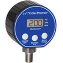 Cole Parmer Digital Pressure Gauge 0 5000 psi 3 Diameter 1 4 NPT M  - 68349-18