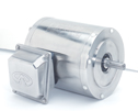 Representative photo only Stainless Steel NEMA Type C face Rigid Base Single phase Motor 1 2 Hp 3600 RPM