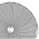 GRAPHIC CONTROLS CORP - 00166207 - Chart Paper for 8 Circular Recorders 24 hour 0 to 250F C 60 pk