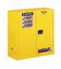 Representative photo only Justrite Sure Grip EX Flammable Storage Safety Cabinet 30 gallons Self Closing Door