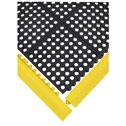 DO-81850-25 Black rubber mat Squares shown with Yellow rubber edge pieces