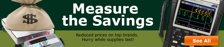Measure the savings on top brands for a limited time only
