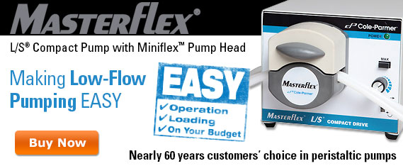 Making Low-Flow Pumping Easy Easy Operation, Loading, On Your Budget Masterflex LS Compact Pump with Miniflex Pump Head